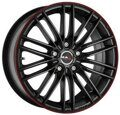 MAK Rapide 8,0x18 5/112 ET50 d-57,1 Matt Black Red Stripe