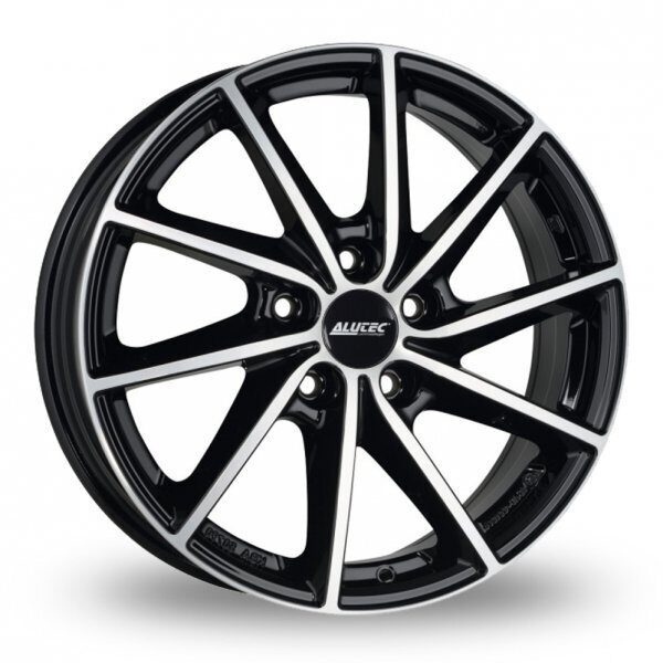 Alutec Singa 7,0x17 5/112 ET49 d-57,1 Diamond Black Front Polished