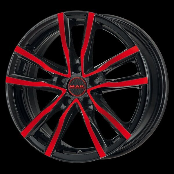 MAK Milano 6,5x16 5/112 ET45 d-76 Black and Red