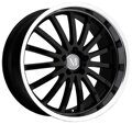 Mandrus Millenium 9,5x19 5/112 ET53 d-66,6 Gloss Black Mirror Cut Lip