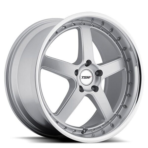 TSW Carthage 8,0x17 5/120 ET35 d-76 Silver Mirror Cut Lip Milled Spokes