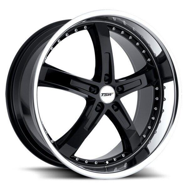 TSW Jarama 8,0x17 5/120 ET35 d-76 Gloss Black Mirror Cut Lip