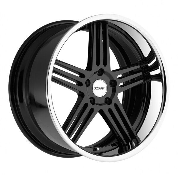 TSW Nouvelle 8,0x18 5/114,3 ET35 d-76 Gloss Black Chrome Lip
