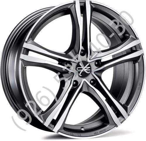 OZ X5B 7,5x17 5/112 ET35 d-75 Matt Graphite Diamond Cut