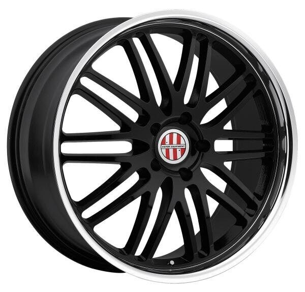 Victor LeMans 9,5x18 5/130 ET49 d-71,6 Gloss Black Mirror Cut Lip