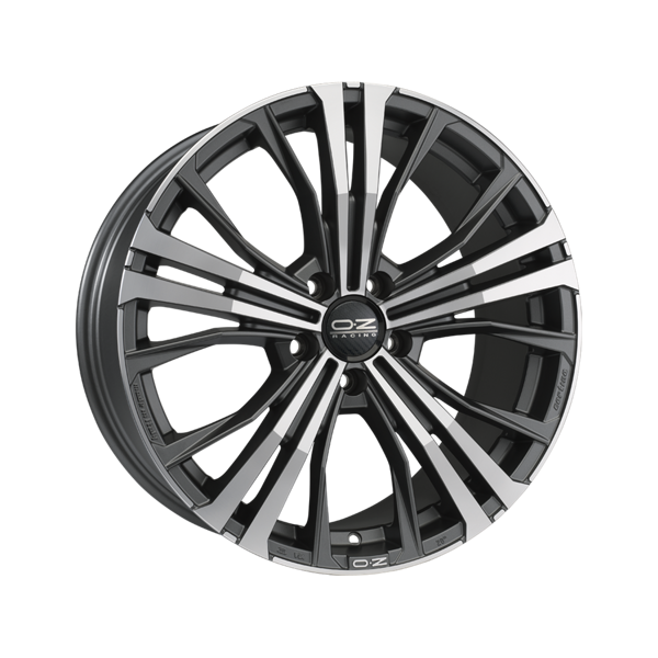 OZ Cortina 9,0x19 5/112 ET30 d-79 Matt Dark Graphite Diamond Cut