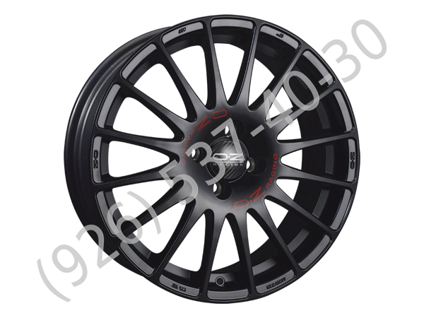 OZ Superturismo GT 7,0x16 5/105 ET35 d-56,6 Matt Black Red Lettering