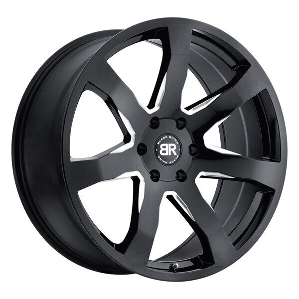 Black Rhino Mozambique 9,5x22 5/150 ET30 d-110,1 Gloss Black With Milled Spokes